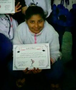 Samah with certificate