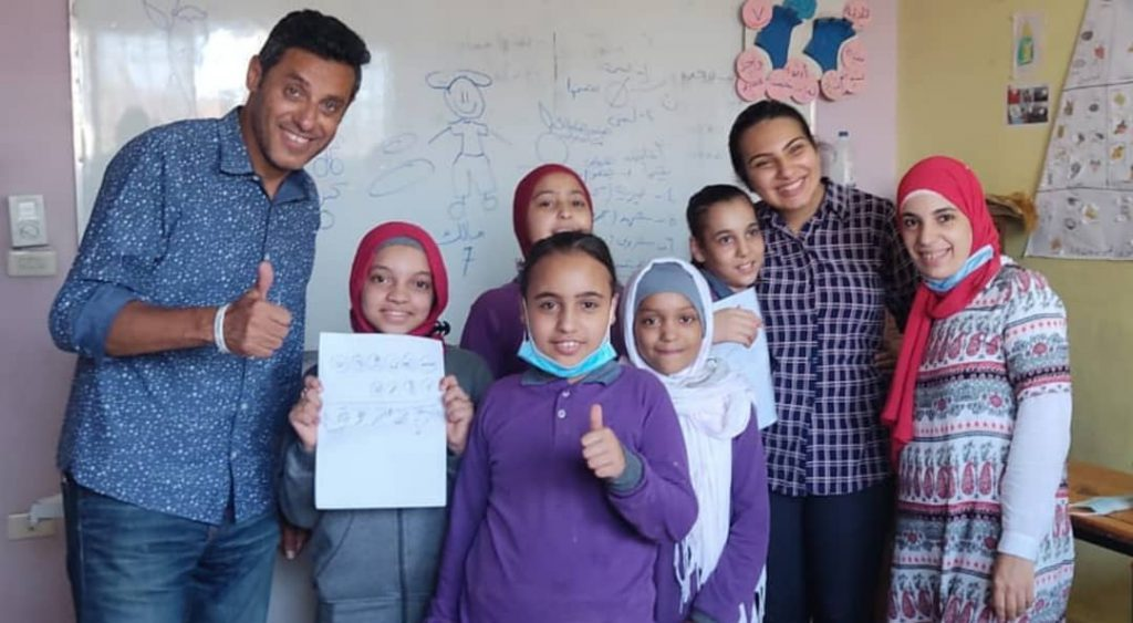 Moody with girls from Heya masr class